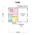 планировка 2-х этажного каркасного дома